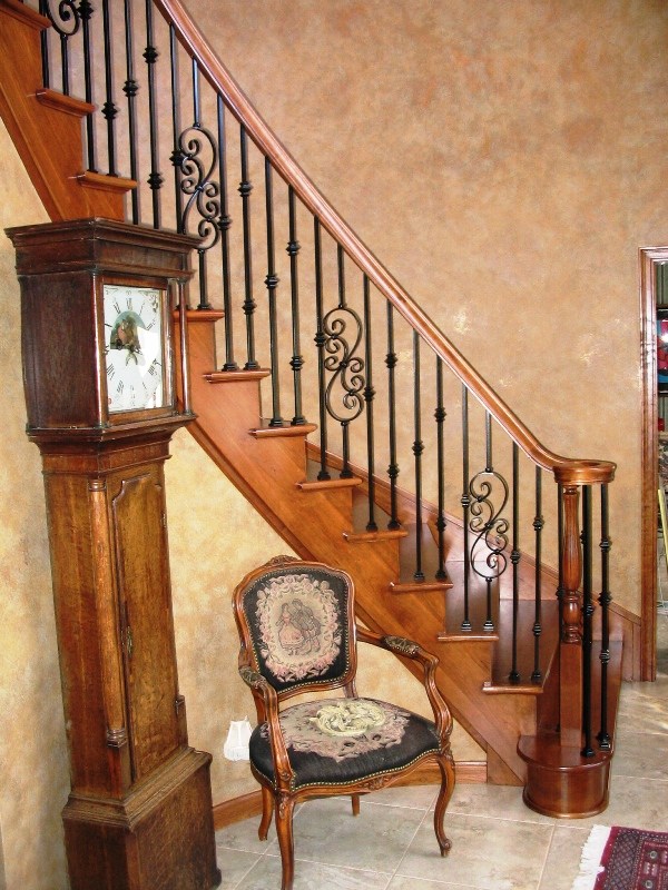 Metal balusters custom stairs finishes medina oh for Custom stairways